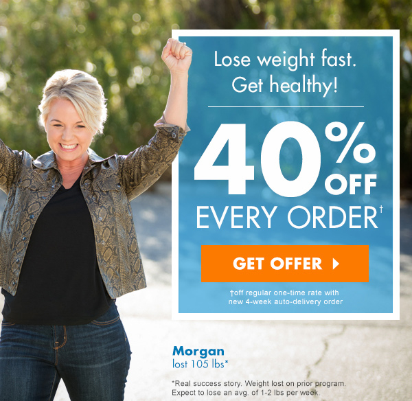 Lose weight fast. Get healthy! 40% off every order.