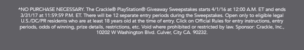 Sweepstakes Rules